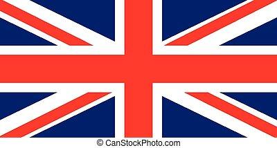 bandiera, vettore, regno unito