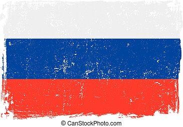 bandiera, vettore, russia