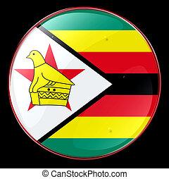 bandiera, zimbabwe, bottone