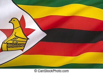 bandiera, zimbabwe, repubblica