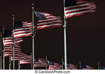 bandiere, a, monumento washington