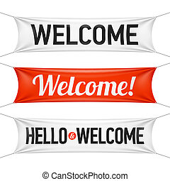 bandiere, benvenuto, ciao