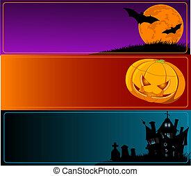 bandiere, halloween
