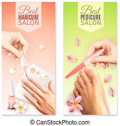 bandiere, manicure, pedicure
