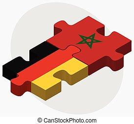 bandiere, marocco, germania
