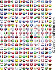 bandiere, mondo, paesi