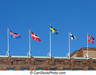 bandiere, nordico