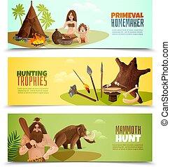 bandiere orizzontali, cavemen