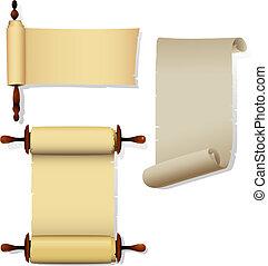 bandiere, pergamena