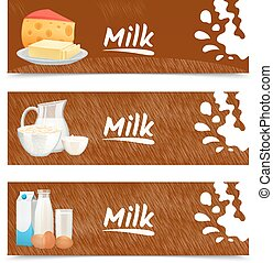 bandiere, prodotti, latte