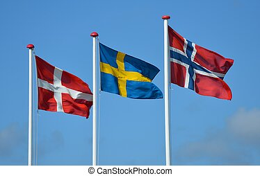 bandiere, scandinavo
