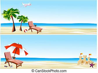 bandiere, spiaggia