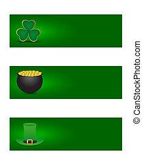 bandiere, st., giorno, patrick's