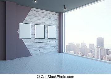 bandiere, stanza moderna