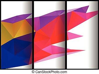 bandiere, triangolare