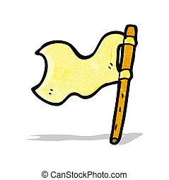 bandierina ondeggiamento, cartone animato