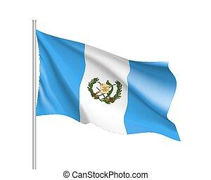 bandierina ondeggiamento, guatemala