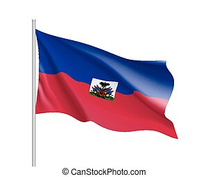 bandierina ondeggiamento, haiti