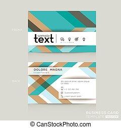banding, handlowy, barwny, abstrakcyjna forma, tło, bilety, szablon