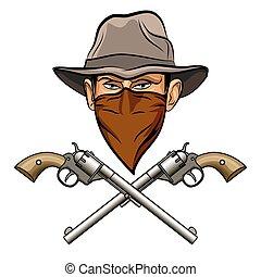 bandit, guns.eps