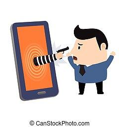 Bandit in smartphone