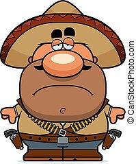 bandito, karikatur, muede