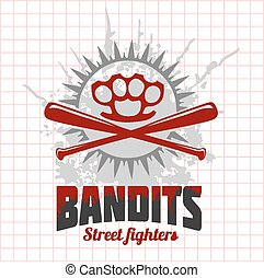 Bandits and hooligans - emblem of criminal nightlife