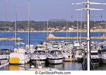 bandol, port, france