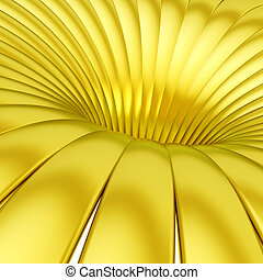 Bands forming abstract whirlpool - Yellow metal bands...