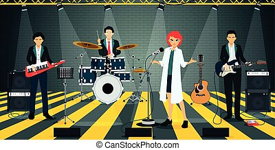 Bands in suit