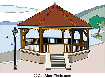 Charming bandstand by the lake