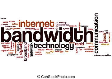 Bandwidth word cloud concept