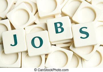 banen, woord, gemaakt, door, leter, stukken