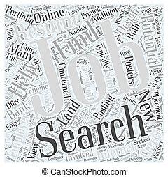 banen, zoeken, bevinding, succes, tussenverdieping, een, nieuw, carrière, woord, wolk, concept
