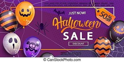 baner, halloween., försäljning