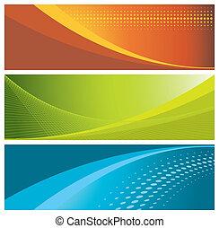 baner, (headers), färgrik