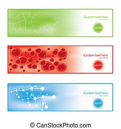 baner, molekyl, färgrik, bakgrund