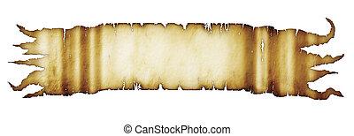 baner, pergament