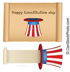 baner, pergament, dag, konstitution