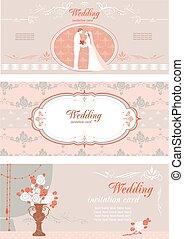 Baner, sätta, bröllop