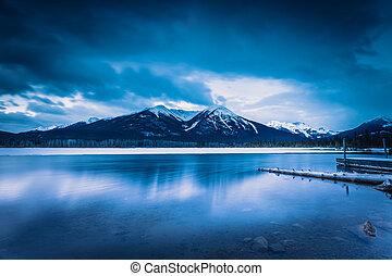 banff 国家公园, vermilion, 湖, 日出