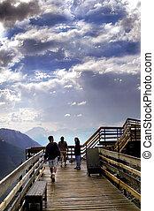 Banff lookout - Banff, Alberta  Top of Sulphur Mountain