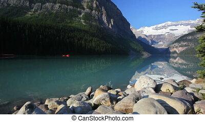 Banff National Park, Canada, Lake Louise, crane shot