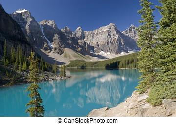Banff National Park Lake Moraine - Lake Moraine in Banff...