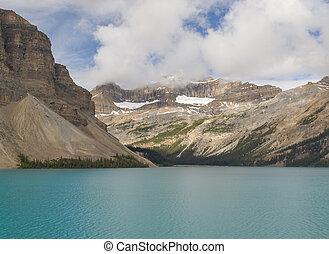 banff parco nazionale, lago arco, alberta canada