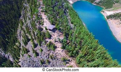Banff park aerial mountains