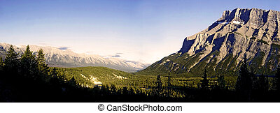banff valley - sunset on the valley
