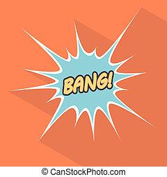 bang., イラスト, 要素, サイト。, ベクトル, デザイン, 漫画