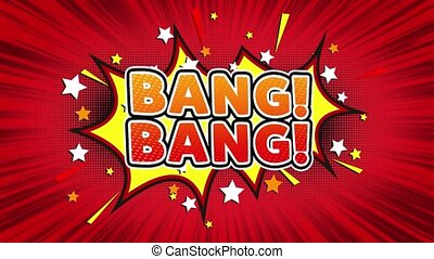 Bang Bang Text Pop Art Style Comic Expression.