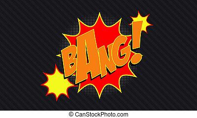 Bang! comic cloud in pop art style.